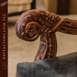 Matching Master Hand Carved Walnut Dining Chairs