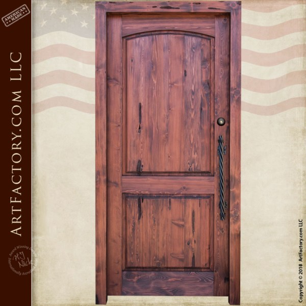 custom two panel wood door