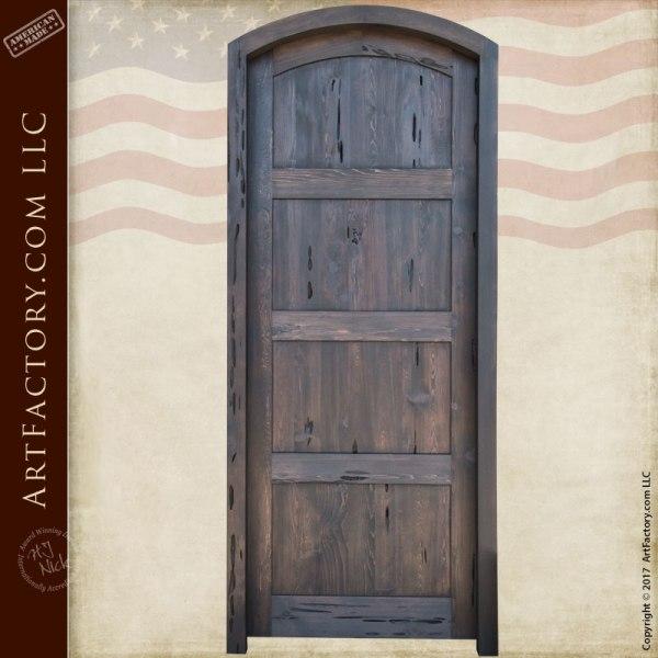 custom arched entry door