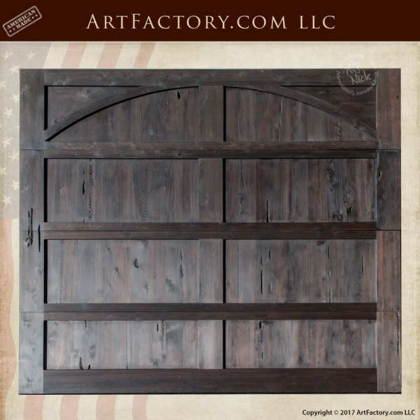 Sensational Custom Solid Wood Garage Door Thick Rustic Style Download Free Architecture Designs Viewormadebymaigaardcom