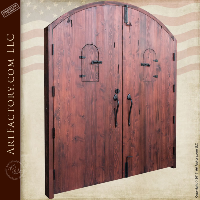 High Security Solid Wood Double Fortress Entry Doors
