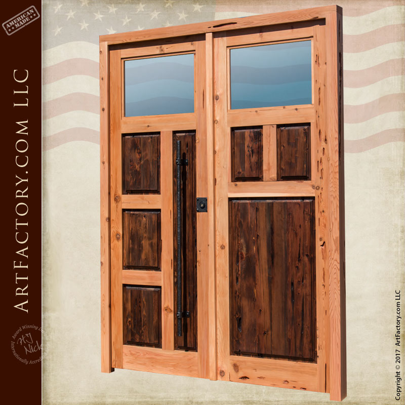 custom contemporary double doors