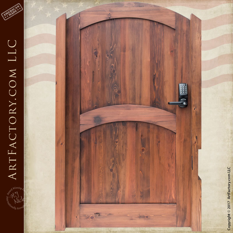 solid wood entry gate