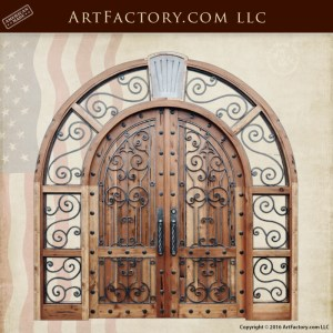 arched grand entrance doors