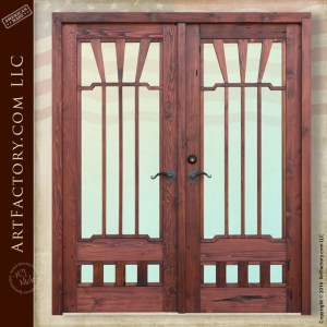 Greene & Greene inspired doors