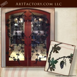 custom wine cellar door grill