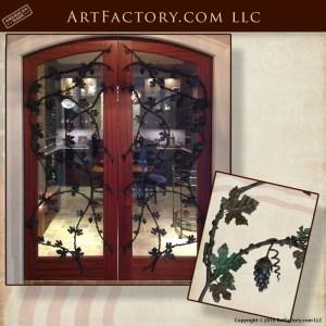 custom wine cellar door grill