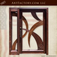 Modern Art Style Door: Contemporary Art Deco Style Entrance