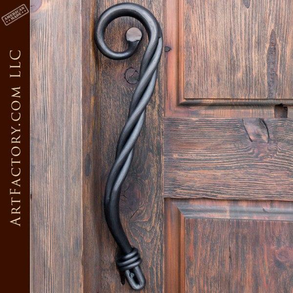 custom twist door pull