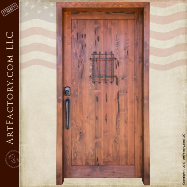 custom wood speakeasy door