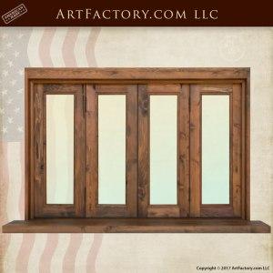 custom windows solid wood frame handcrafted windows