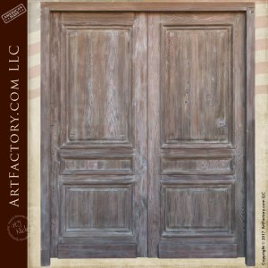double entry doors, custom solid wood doors