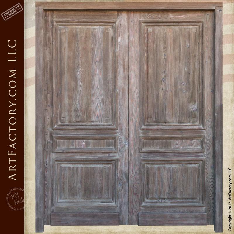 double entry doors custom solid wood doors