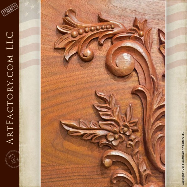 Hand Carved Walnut Bed Fine Art Wood Carvings By Master