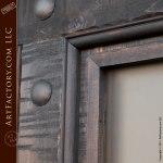 custom castle style entrance double doors wrought iron hardware