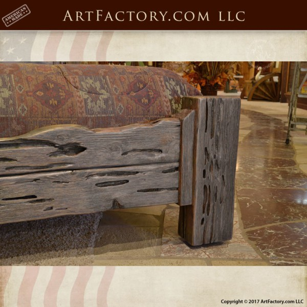 Custom Wooden Coffee Table Man Cave