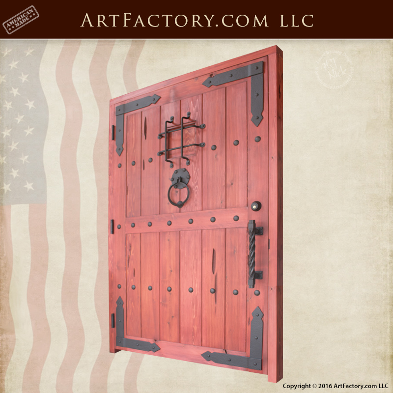 Custom Castle Style Door Solid Wood With Working Speakeasy Portal u2013 SED9394 & Custom Wood Doors: Hand Hewn Mortise And Tenon Joined