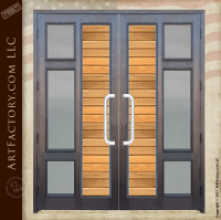 Contemporary Custom Double Doors: Handcrafted From Natural ...
