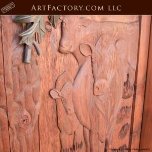 Rustic Hand Carved Door Nature Theme Log Cabin Doors