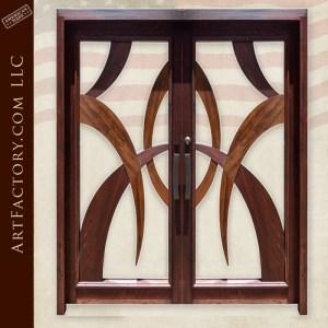 modern art style double doors