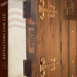 music themed custom door solid wood fortress style entry door