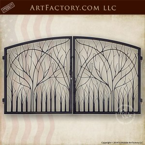nature theme iron gate