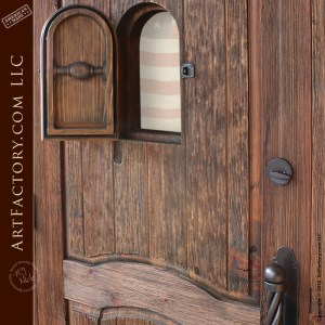 Hand Carved Personalized Door