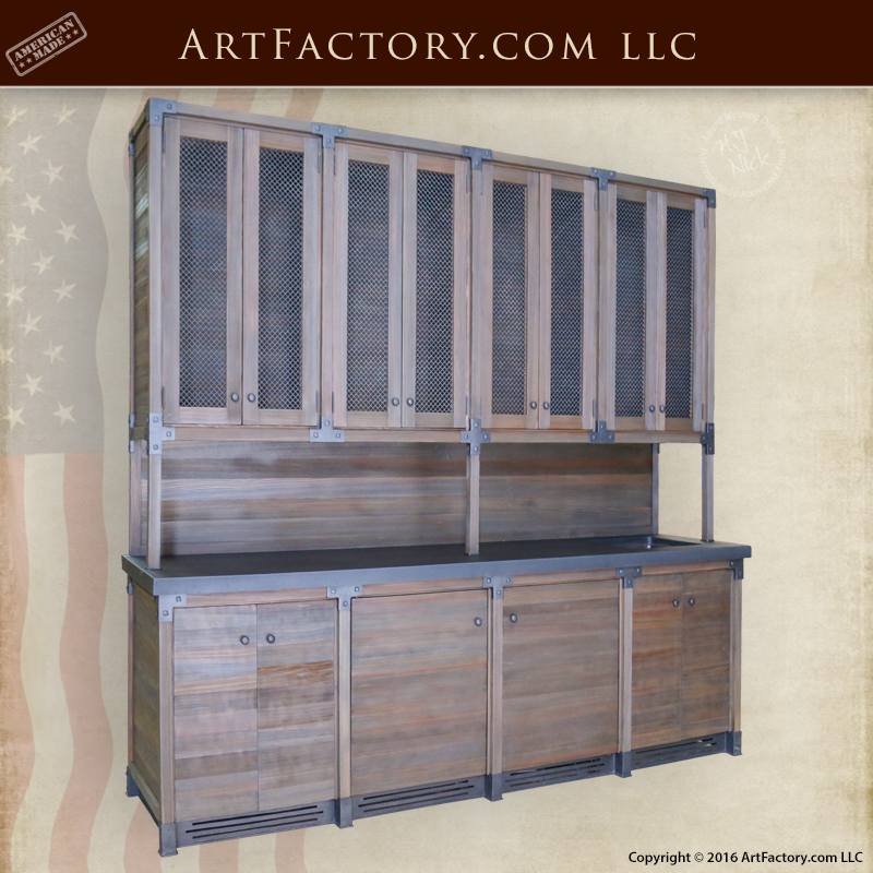 Custom Wet Bar: Handmade With Solid Wood And Hand Forged Iron U2013 BAR1125 ·  Product Details · Solid Wood Display Cabinet