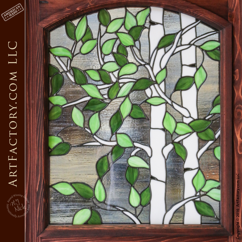 Stained Glass Dutch Door Window