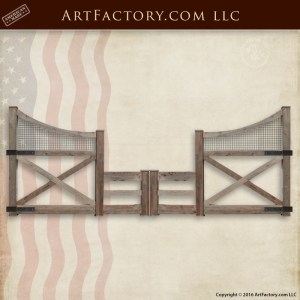 custom ranch fence gate
