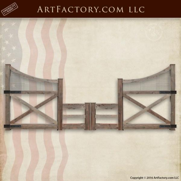 custom ranch fence gate