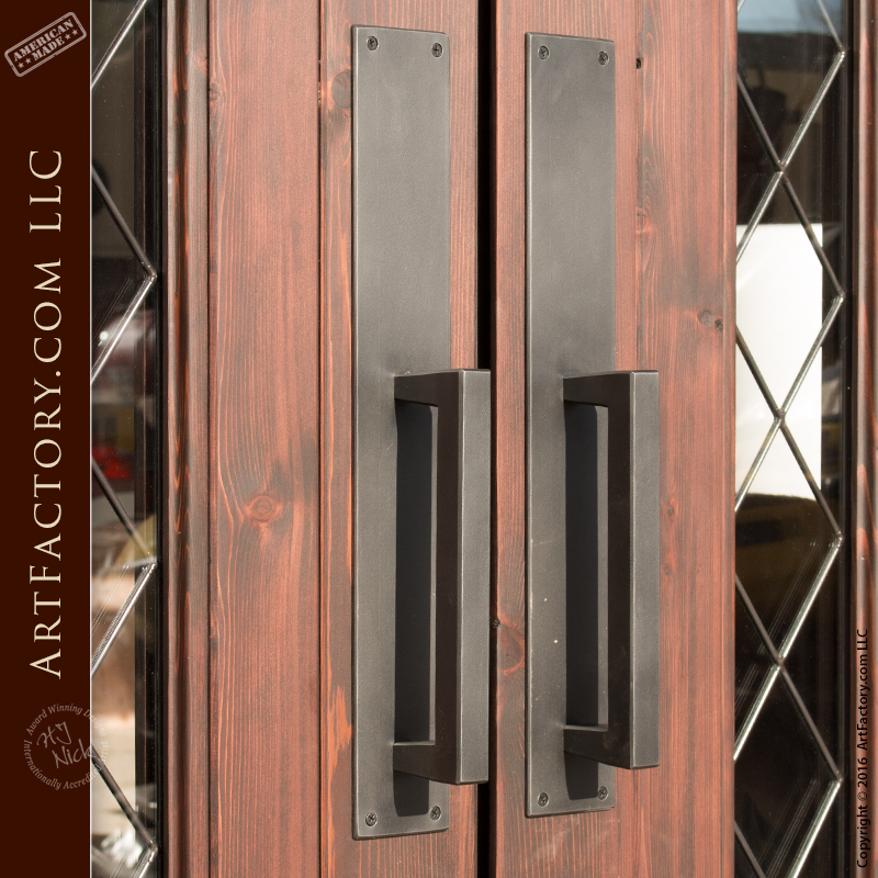 kitchen cabinets door knobs fatigue mats contemporary handles: custom pulls & matching ...