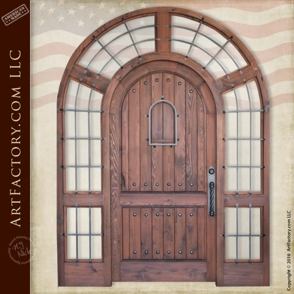 arched grand entrance door