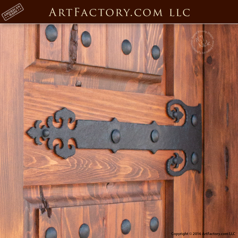 Medieval Style Strap Hinges Blacksmith Hand Forged