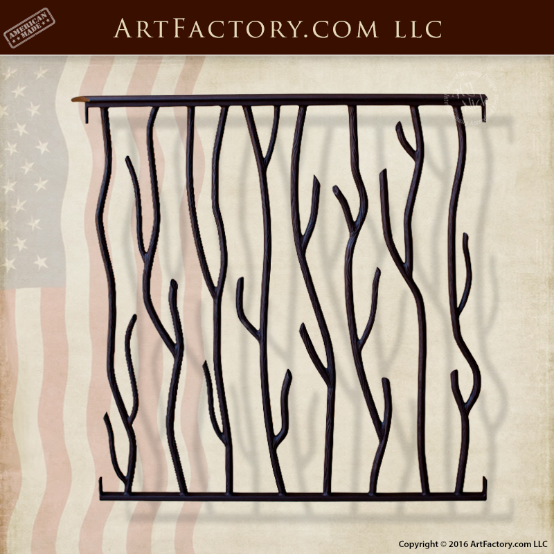 custom wrought iron stair railing