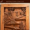 western style hand carved door