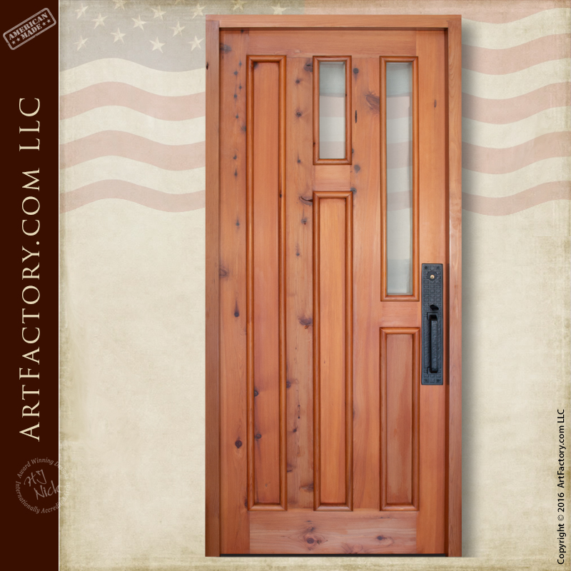 Handcrafted Craftsman style door