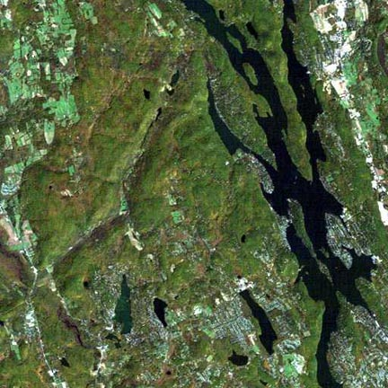 Candlewood Lake NASA photo