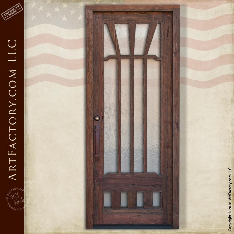 custom handmade craftsman door