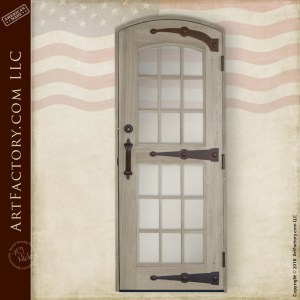 semi-arched top custom door
