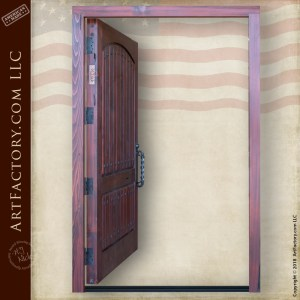 Vertical Groove Panel Door