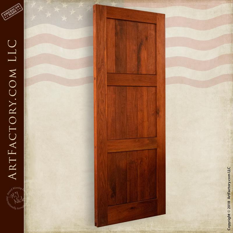 recessed 3 panel wood door