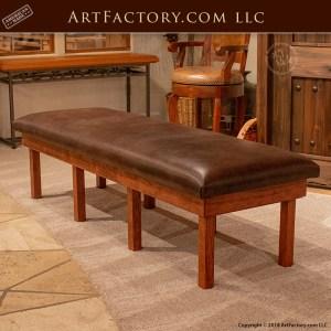 custom cherry wood workout bench