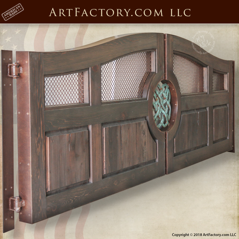 custom wooden driveway gate