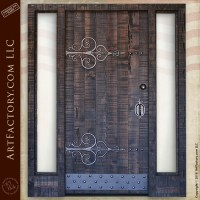 Custom Gothic Front Door: With Blacksmith Hand Forged Iron ...