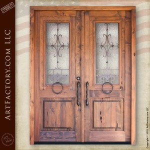 Spanish inspired double doors