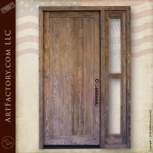rustic wood front door