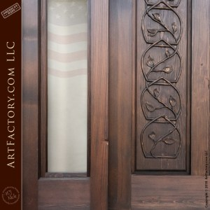 Baroque inspired custom door