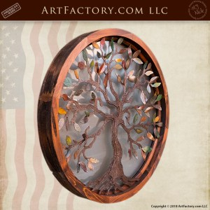 Custom Decorative Overlay Window Circular Tree Of Life Design