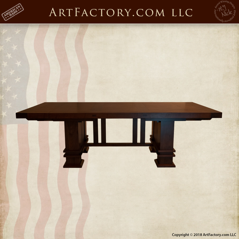 Frank Lloyd Wright inspired table